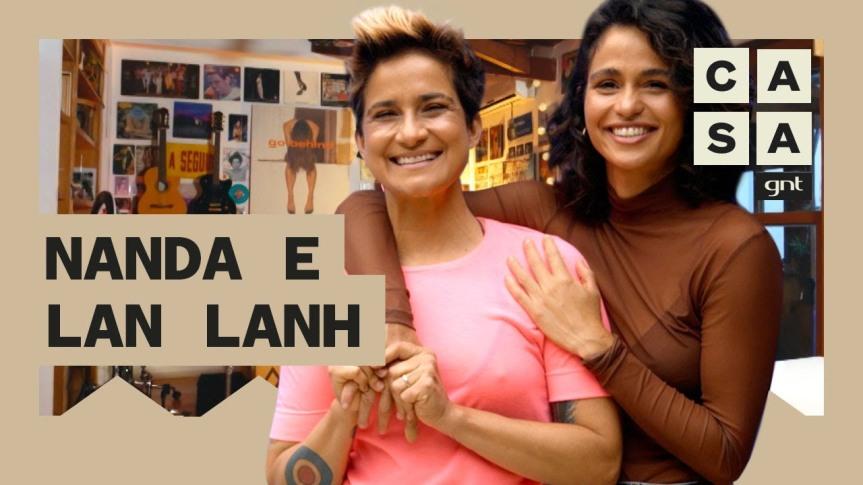 Nanda Costa e Lan Lahn mostram estúdio em casa e decoração feita com discos de vinil no RJ |Lar